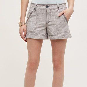 Anthropologie [Pilcro] Grey Linen Shorts Sz 2